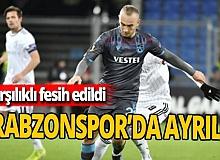 Trabzonspor'da ayrılık: karşılıklı fesih edildi