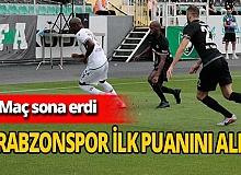 Trabzonspor ilk puanını aldı