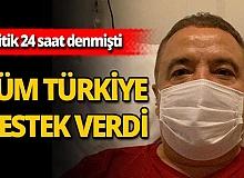 """Tüm Türkiye tek yürek oldu: """"Türkiye seninle Muhittin Böcek"""""""
