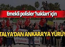 Üç emekli polisin 544 kilometrelik yürüyüşü Antalya'dan başlayacak