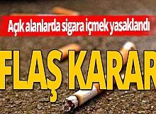 Valilik açıkladı, açık alanda sigara içmek yasak!