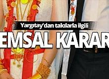 Yargıtay'dan düğün takılarıyla ilgili emsal karar