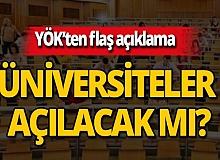YÖK'ten flaş üniversite açıklaması