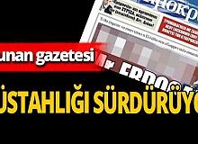 Yunan gazetesi çirkin manşeti tekrar yayınladı!