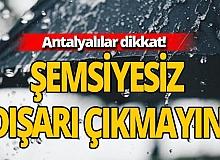10 Ekim 2020 Antalya'da hava durumu