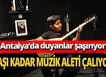 11 yaşındaki Eren Yavuz yaşı kadar müzik aleti çalıyor