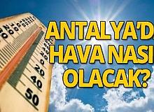 13 Ekim 2020 Antalya'da hava durumu