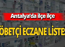 16 Ekim 2020 Cuma Antalya'da nöbetçi eczaneler