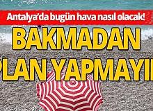 17 Ekim 2020 Antalya'da hava durumu