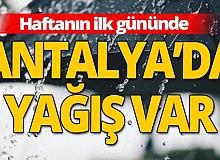 19 Ekim 2020 Antalya'da hava durumu