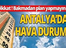 24 Ekim 2020 Antalya'da hava durumu