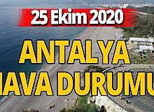 25 Ekim 2020 Antalya hava durumu