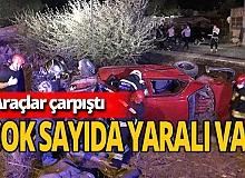2 otomobil çarpıştı: Çok sayıda yaralı var