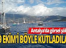 60 tekneyle coşkulu 'Cumhuriyet' kutlaması