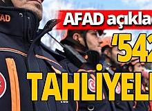AFAD: 'Hatay'da şu ana kadar 542 kişi tahliye edildi'