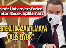 Akdeniz Üniversitesi'nden Muhittin Böcek açıklaması!