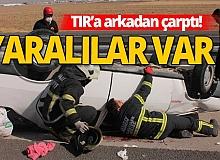 Aksaray'da feci kaza! Anne ve oğlun durumu kritik...