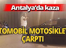 Antalya'da kaza! Motosikletli yaralandı
