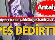 Antalya'da pes dedirten hırsızlık! 7 saniye içinde çaldı