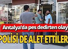 Antalya'da polis üniformasıyla soygun