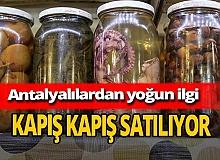 Antalya haber: Ahtapot turşusuna yoğun ilgi