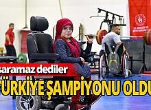 Antalya haber: Engelleri aştı, 7 ayda Türkiye şampiyonu oldu