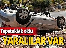 Antalya haber: Kaş'ta otomobil devrildi