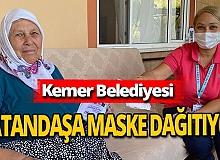 Antalya haber: Kemer Belediyesi maske dağıtıyor
