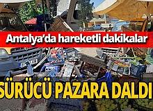 Antalya haber: Polisin 'dur' ihtarına uymadı, pazara daldı