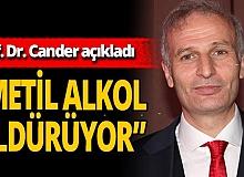 """Antalya haber: Prof. Dr. Başar Cander: """"Metil alkol ölümcül olabilir"""""""