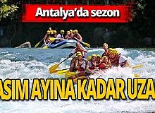 Antalya haber: Rafting sezonu Kasım ayına uzadı