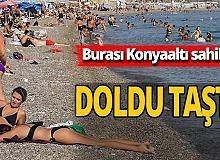 Antalya Konyaaltı sahili doldu taştı