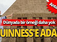 Antalya'nın Keops Piramidi, Guinness'e aday
