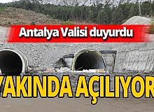 """Antalya Valisi Ersin Yazıcı: """"Demirkapı Tüneli'ni 2021 sonlarına doğru açıyoruz"""""""