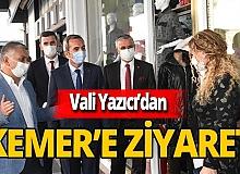 Antalya Valisi Ersin Yazıcı Kemer'de incelemelerde bulundu