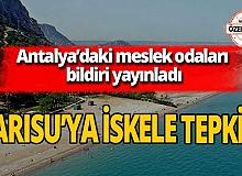 Antalya'nın Sarısu Plajı'na iskele tepkisi!