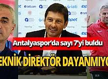 Antalyaspor'un yolların ayrıldığı teknik direktör sayısı 7'yi buldu