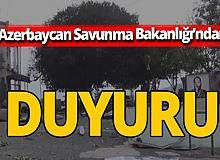 Azerbaycan Savunma Bakanlığı duyurdu: 'Sugovuşan işgalden kurtuldu'