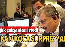 Bakan Fahrettin Koca'dan 112 çalışanlarına aşure sürprizi