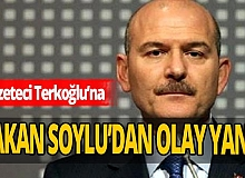 Bakan Soylu'dan gazeteci Barış Terkoğlu'na olay yanıt!