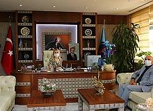 Başkan Çavuşoğlu'ndan Rektör Özkan'a ziyaret