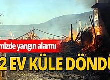 Bolu'da yangın alarmı! 12 ev küle döndü!