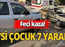 Burdur'da iki otomobil çarpıştı! Yaralılar var