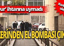 Bursa'da polisten kaçan şüphelinin üstünden el bombası çıktı!