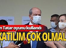 Son dakika! Ersin Tatar Cumhurbaşkanlığı seçiminde oyunu kullandı!