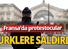 Fransa'da Ermeni protestocular işe giden Türklere saldırdı