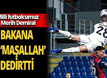 Futbolcu Merih Demiral, Gençlik ve Spor Bakanı Mehmet Kasapoğlu'na 'Maşallah' dedirtti