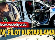 Genç pilot yarıştaki kazada hayatını kaybetti