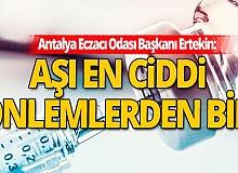 İlk etapta Antalya'ya 20 bin grip aşısı geldi