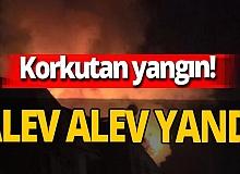İstanbul'da yangın! 7 katlı binanın çatısı alev alev yandı
